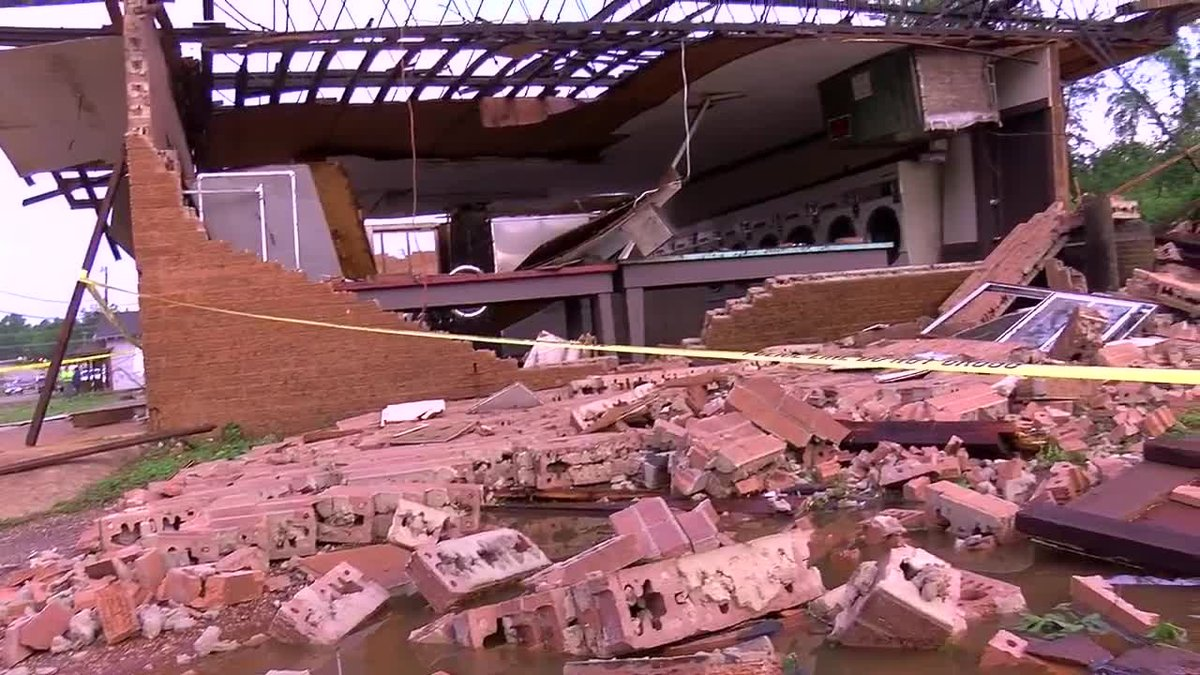 RAW VIDEO: Storms damage homes, businesses in San Augustine