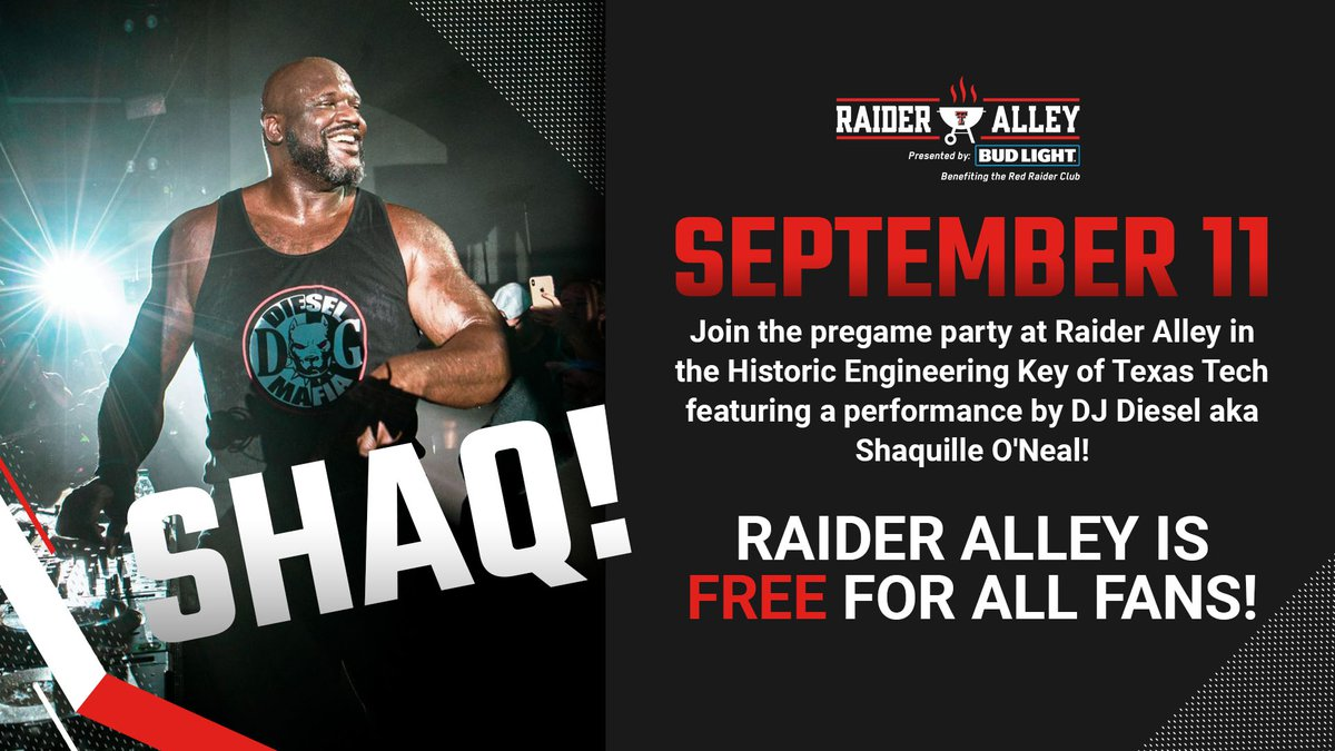 On September 11, NBA great Shaquille O'Neal will be performing as DJ Diesel in the Historic...
