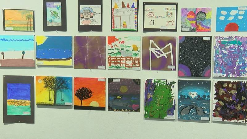 Lufkin ISD dyslexia students showcase art work