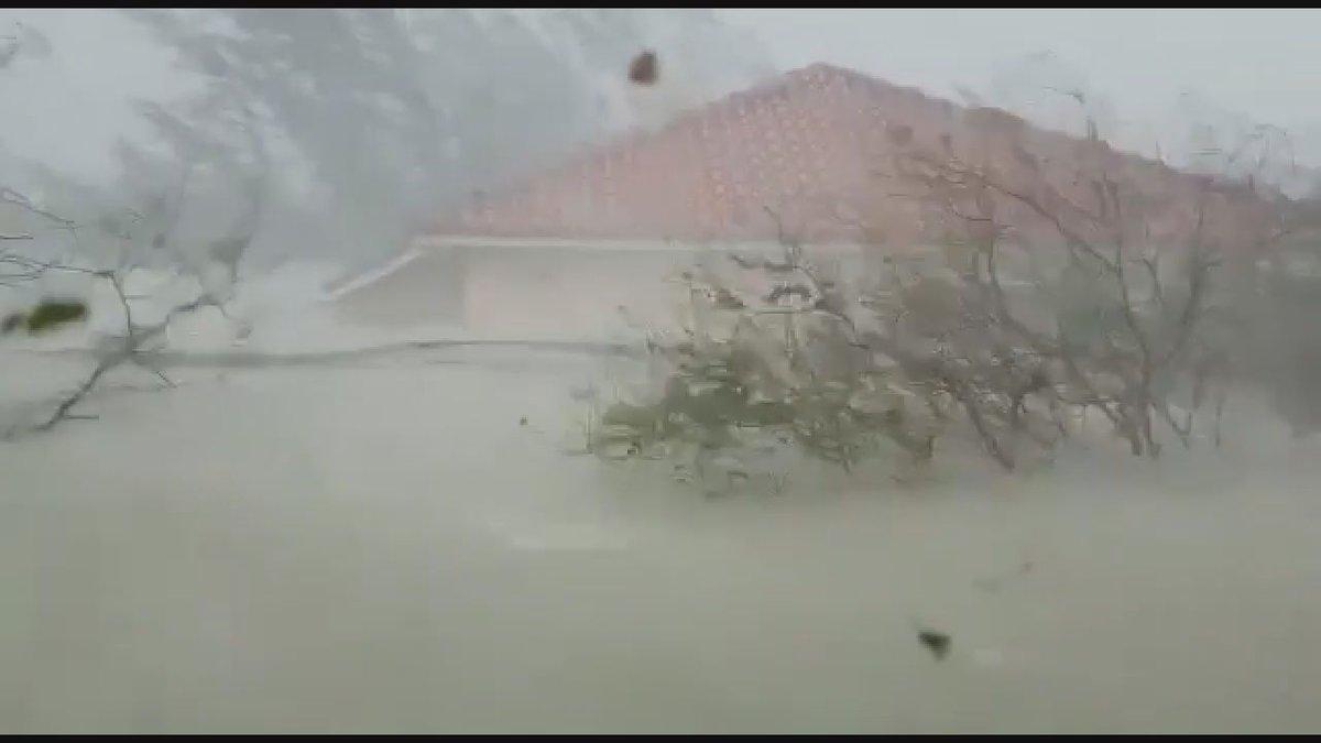 The Bain house in Freeport, Bahamas underwater from Hurricane Dorian. (Source: Nathan Bain)