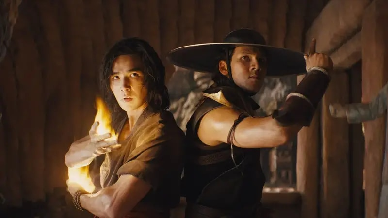 Liu Kang (Ludi Lin), left, and Kung Lao (Max Huang) prepare for battle in the latest movie...