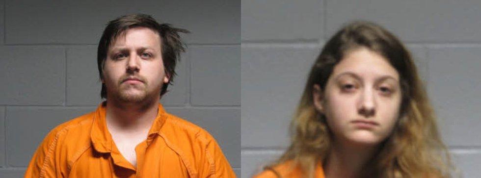 Nicholas Prager (left) and Hannah Fuller were arrested on felony drug charges on June 2.