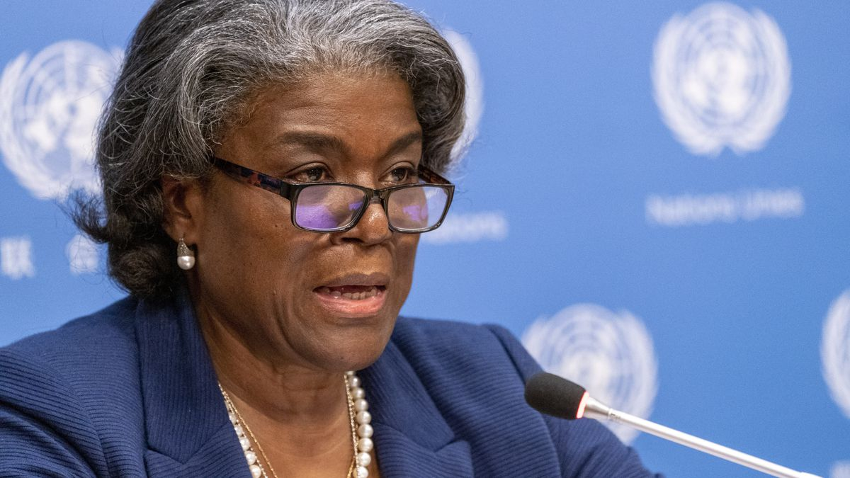 In this March 1, 2021 file photo, U.S. Ambassador to the United Nations, Linda...