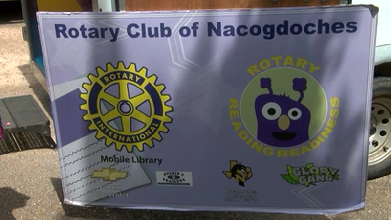 Nacogdoches Rotary Club's mobile library