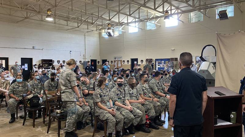 Students attend graduation for Medical Orientation and Training school at Civil Air Patrol