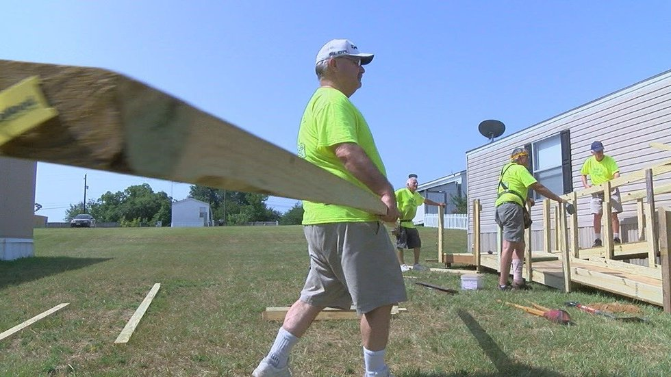 East Texas volunteers currently assemble ramps in Anderson, Camp, Cherokee, Franklin, Gregg,...