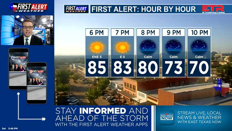 Saturday Evening Weather At Your Fingertips 9-25-21