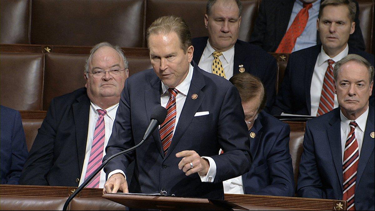 Rep. Vern Buchanan, R-Fla.,speaks as the House of Representatives debates the articles of...