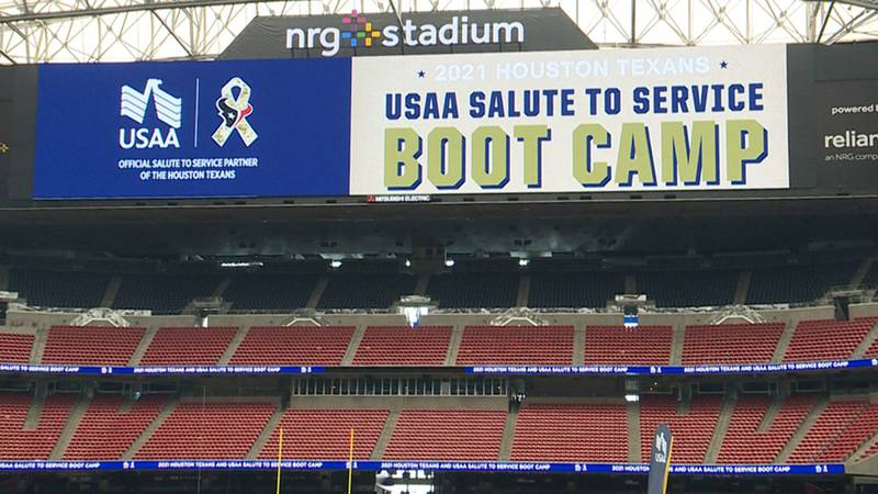 Dozens of Fort Hood soldiers put their football skills to the test Friday at NRG  Stadium.