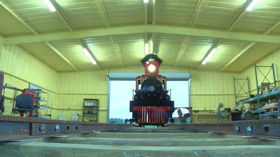 The train engine built right here in Lufkin (Source: KTRE)