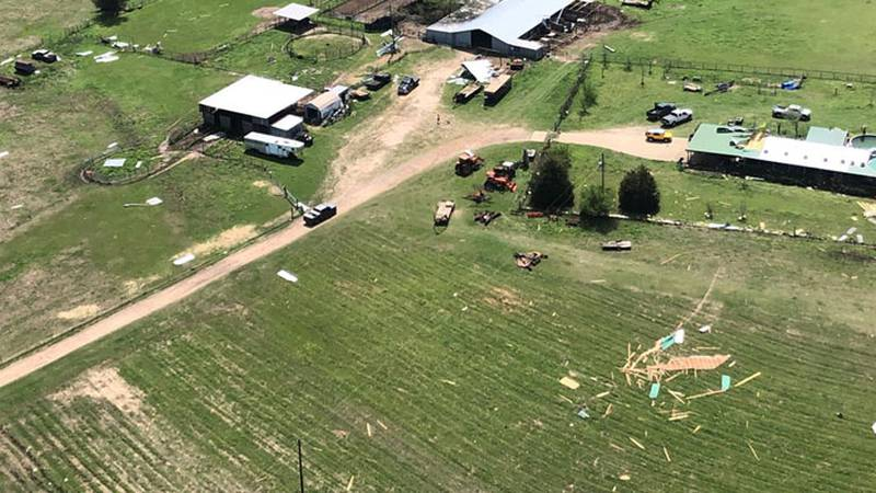 KLTV's Julian Esparza went up in Chopper 7 to get a birds eye view of the storm damage. They...