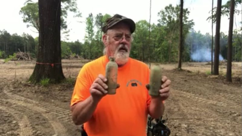 Tom Moss talks about what he believes are Civil War-era artifacts. He found them in Marion...