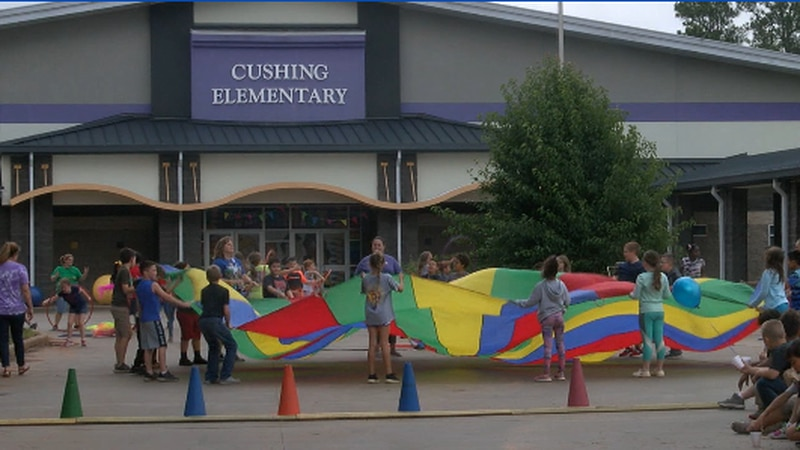Cushing Elementary students hold circus in honor of classmate with cancer