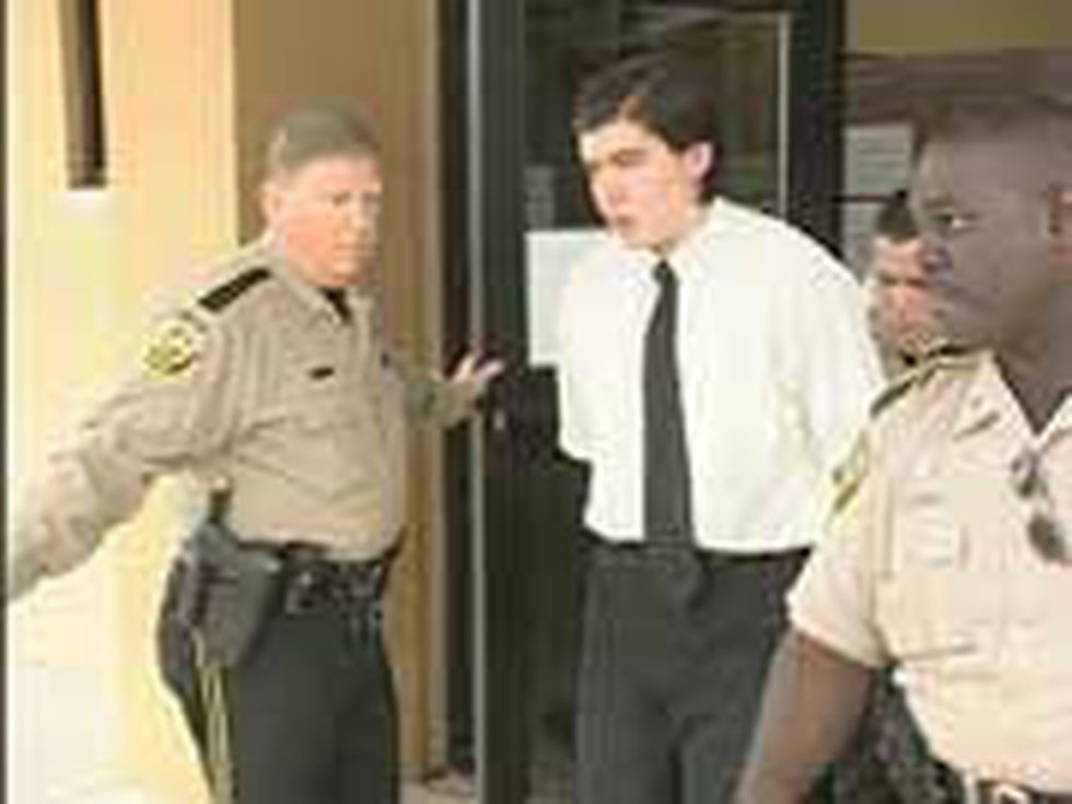 Colton Weir is seen leaving the Nacogdoches County courthouse following his conviction on...